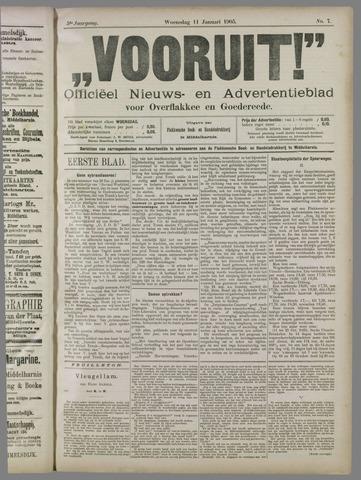"""""""Vooruit!""""Officieel Nieuws- en Advertentieblad voor Overflakkee en Goedereede 1905-01-11"""