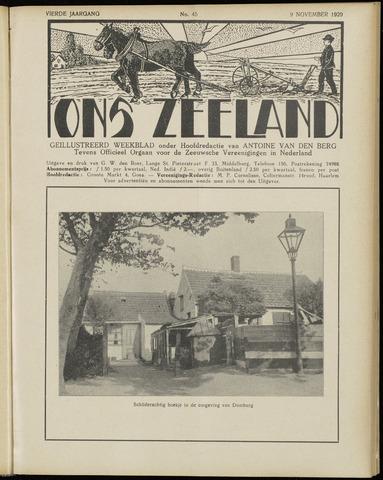 Ons Zeeland / Zeeuwsche editie 1929-11-09