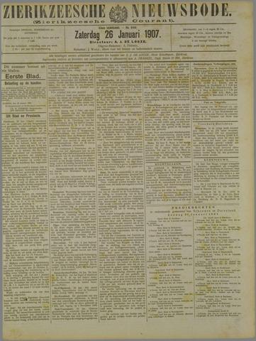 Zierikzeesche Nieuwsbode 1907-01-26