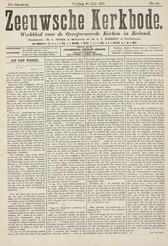 Zeeuwsche kerkbode, weekblad gewijd aan de belangen der gereformeerde kerken/ Zeeuwsch kerkblad 1917-07-20