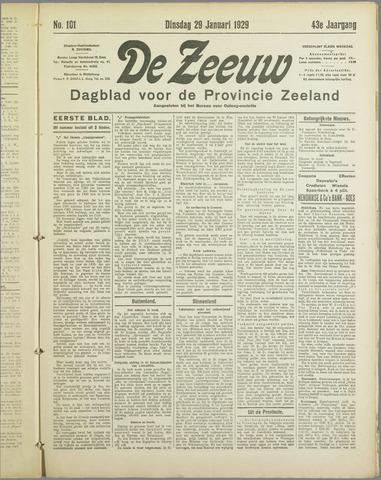 De Zeeuw. Christelijk-historisch nieuwsblad voor Zeeland 1929-01-29