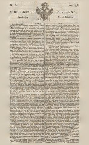 Middelburgsche Courant 1758-11-16
