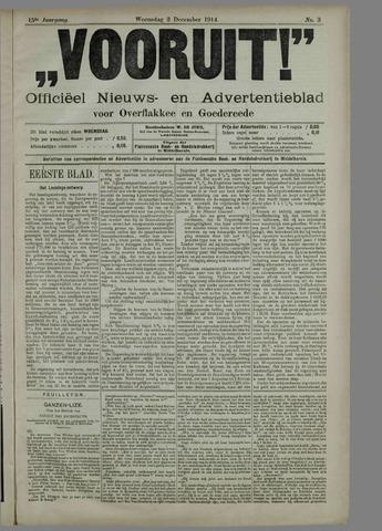 """""""Vooruit!""""Officieel Nieuws- en Advertentieblad voor Overflakkee en Goedereede 1914-12-02"""