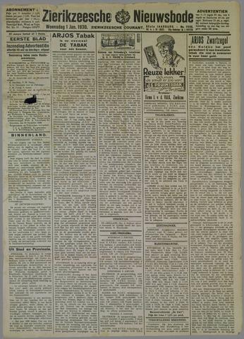 Zierikzeesche Nieuwsbode 1930