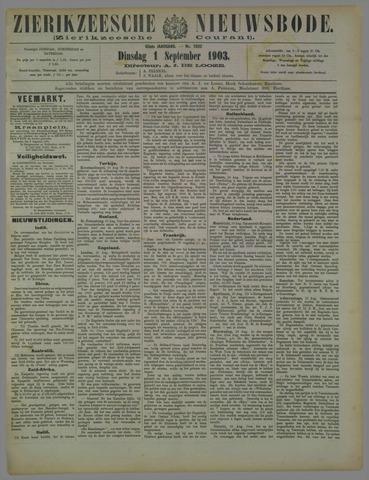 Zierikzeesche Nieuwsbode 1903-09-01