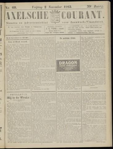 Axelsche Courant 1923-11-02