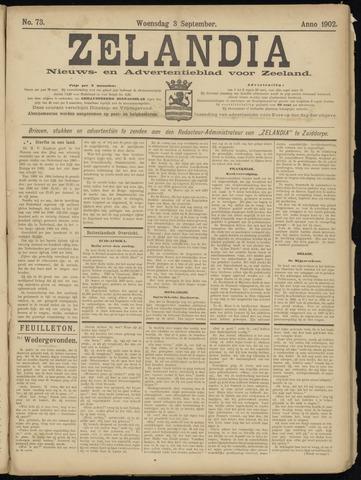 Zelandia. Nieuws-en advertentieblad voor Zeeland | edities: Het Land van Hulst en De Vier Ambachten 1902-09-03