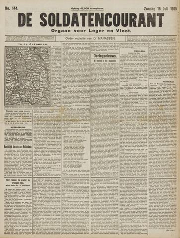 De Soldatencourant. Orgaan voor Leger en Vloot 1915-07-18