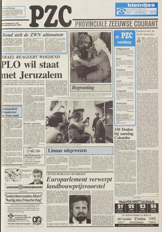 Provinciale Zeeuwse Courant 1987-04-22