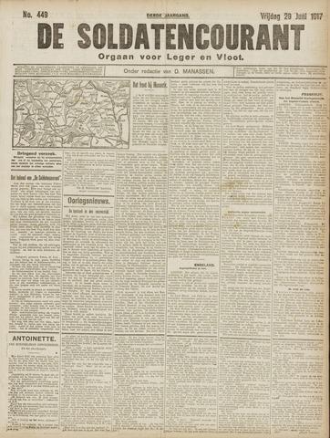 De Soldatencourant. Orgaan voor Leger en Vloot 1917-06-29