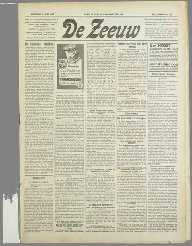 De Zeeuw. Christelijk-historisch nieuwsblad voor Zeeland 1937-04-01