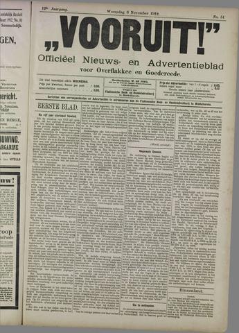 """""""Vooruit!""""Officieel Nieuws- en Advertentieblad voor Overflakkee en Goedereede 1912-11-06"""
