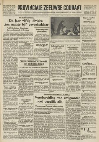 Provinciale Zeeuwse Courant 1952-02-25
