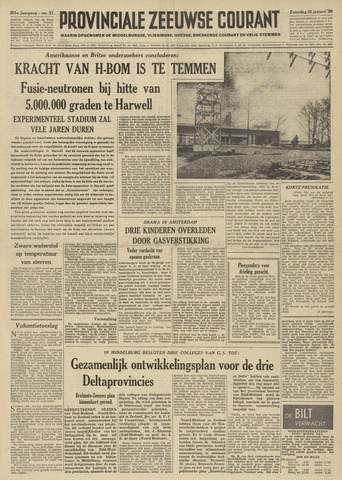 Provinciale Zeeuwse Courant 1958-01-25