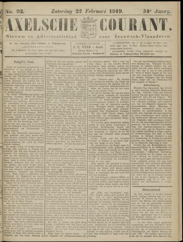 Axelsche Courant 1919-02-22