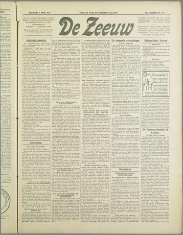 De Zeeuw. Christelijk-historisch nieuwsblad voor Zeeland 1937-04-07