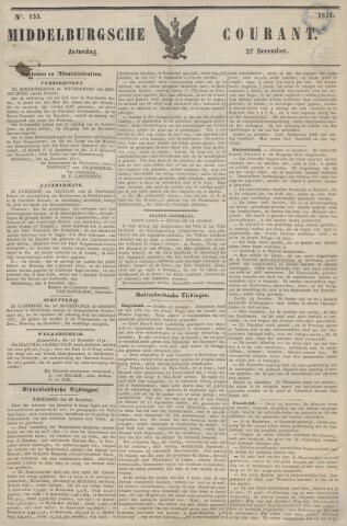 Middelburgsche Courant 1851-12-27