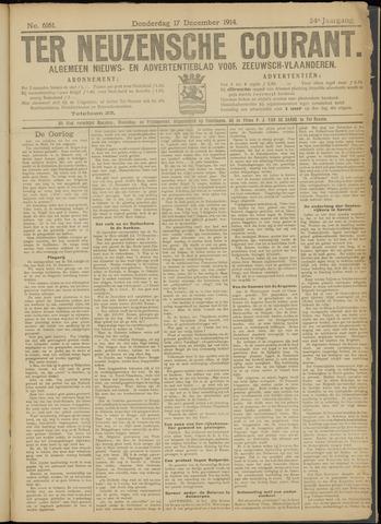 Ter Neuzensche Courant. Algemeen Nieuws- en Advertentieblad voor Zeeuwsch-Vlaanderen / Neuzensche Courant ... (idem) / (Algemeen) nieuws en advertentieblad voor Zeeuwsch-Vlaanderen 1914-12-17