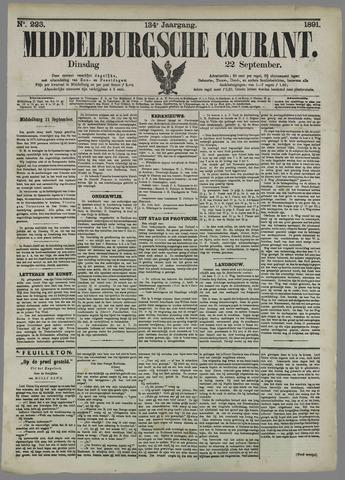 Middelburgsche Courant 1891-09-22