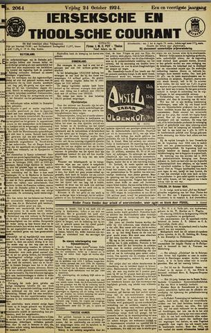 Ierseksche en Thoolsche Courant 1924-10-24