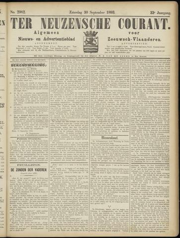 Ter Neuzensche Courant. Algemeen Nieuws- en Advertentieblad voor Zeeuwsch-Vlaanderen / Neuzensche Courant ... (idem) / (Algemeen) nieuws en advertentieblad voor Zeeuwsch-Vlaanderen 1893-09-30