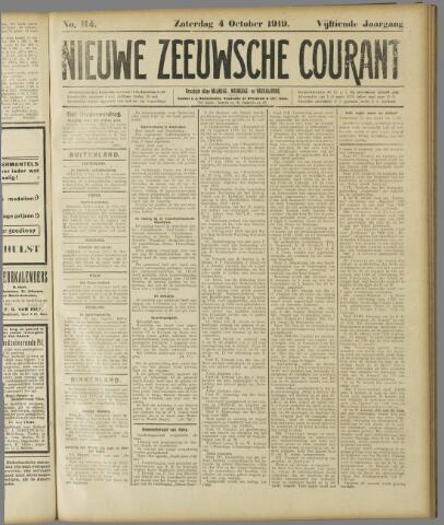 Nieuwe Zeeuwsche Courant 1919-10-04