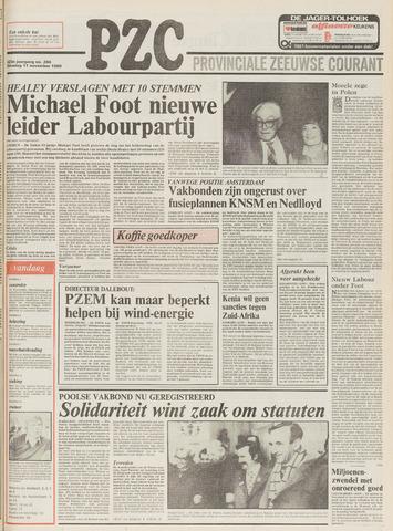 Provinciale Zeeuwse Courant 1980-11-11