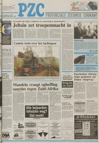 Provinciale Zeeuwse Courant 1993-09-25