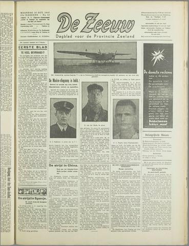 De Zeeuw. Christelijk-historisch nieuwsblad voor Zeeland 1937-10-18