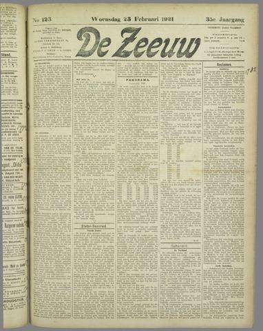 De Zeeuw. Christelijk-historisch nieuwsblad voor Zeeland 1921-02-23