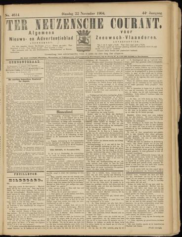 Ter Neuzensche Courant. Algemeen Nieuws- en Advertentieblad voor Zeeuwsch-Vlaanderen / Neuzensche Courant ... (idem) / (Algemeen) nieuws en advertentieblad voor Zeeuwsch-Vlaanderen 1904-11-22