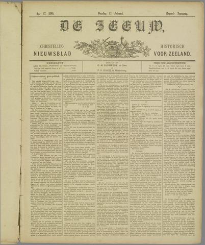 De Zeeuw. Christelijk-historisch nieuwsblad voor Zeeland 1895-02-12