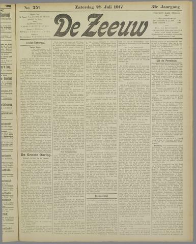De Zeeuw. Christelijk-historisch nieuwsblad voor Zeeland 1917-07-28