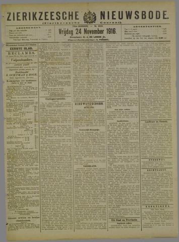 Zierikzeesche Nieuwsbode 1916-11-24