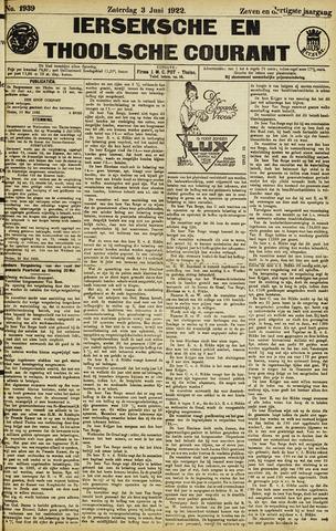 Ierseksche en Thoolsche Courant 1922-06-03