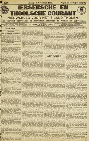 Ierseksche en Thoolsche Courant 1932-11-04