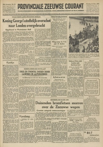 Provinciale Zeeuwse Courant 1952-02-12