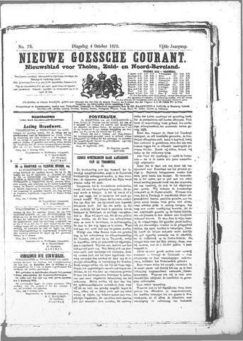 Nieuwe Goessche Courant 1870-10-04