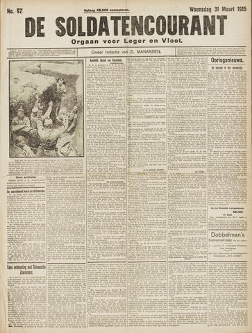 De Soldatencourant. Orgaan voor Leger en Vloot 1915-03-31