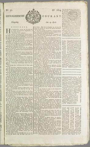 Zierikzeesche Courant 1814-04-19