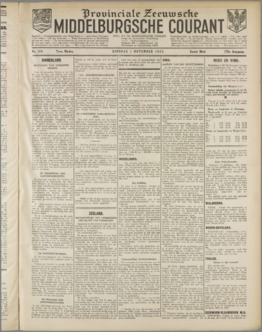 Middelburgsche Courant 1932-11-01
