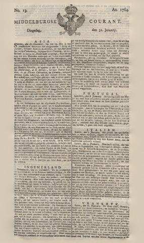 Middelburgsche Courant 1764-01-31
