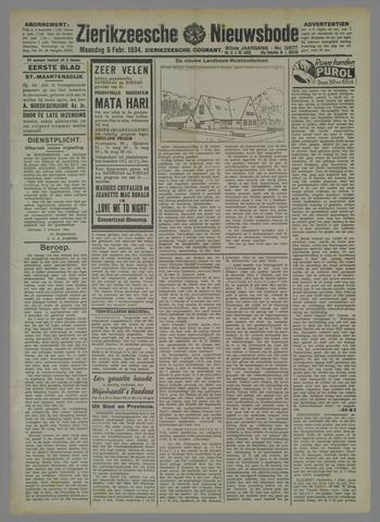 Zierikzeesche Nieuwsbode 1934-02-05