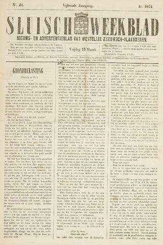 Sluisch Weekblad. Nieuws- en advertentieblad voor Westelijk Zeeuwsch-Vlaanderen 1874-03-13