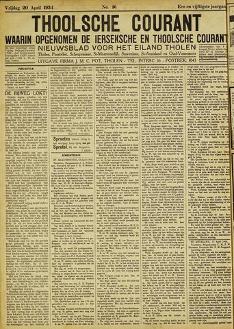 Ierseksche en Thoolsche Courant 1934-04-20