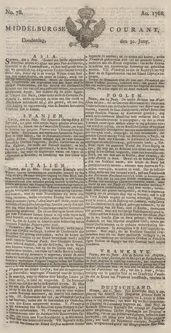 Middelburgsche Courant 1768-06-30