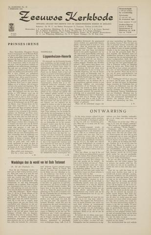 Zeeuwsche kerkbode, weekblad gewijd aan de belangen der gereformeerde kerken/ Zeeuwsch kerkblad 1964-02-07
