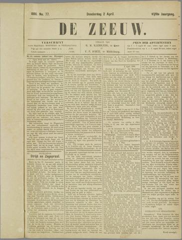 De Zeeuw. Christelijk-historisch nieuwsblad voor Zeeland 1891-04-02