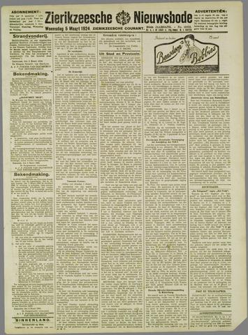 Zierikzeesche Nieuwsbode 1924-03-05