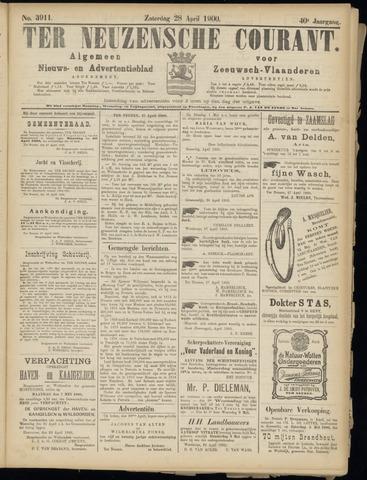 Ter Neuzensche Courant. Algemeen Nieuws- en Advertentieblad voor Zeeuwsch-Vlaanderen / Neuzensche Courant ... (idem) / (Algemeen) nieuws en advertentieblad voor Zeeuwsch-Vlaanderen 1900-04-28